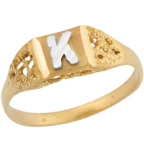K Letter In Diamond Ring Diamond Initial Rings