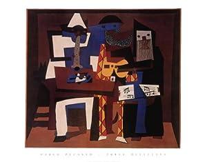 Pablo Picasso - Three Musicians Poster Print (71.12 x 55.88 cm)