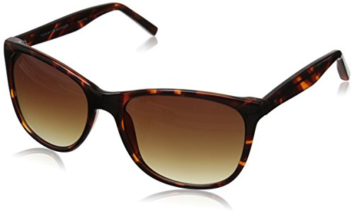 Tommy Hilfiger Women'S Ths Lad138 Wayfarer Sunglasses, Tortoise, 57 Mm