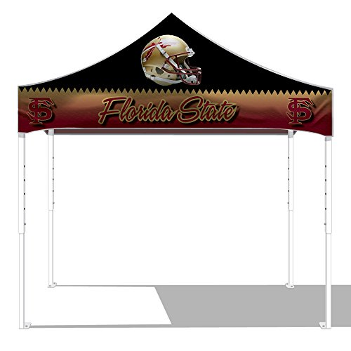 Kd Kanopy Ps100Fsu Party Shade Digital Steel Frame 1-Piece Pop-Up Indoor/Outdoor Portable Canopy, 10 By 10-Feet, Florida State University