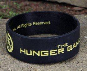 The Hunger Games Movie Rubber Bracelet Mockingjay