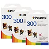 3 Pack Of Polaroid PIF-300 Instant Film for 300 Series Cameras