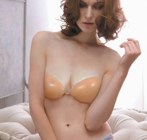M.S Super Sexy Strapless Backless NuBra Silicone Bra Invisible Silicone Self Adhesive Strapless Bra A B C D (D 154g)