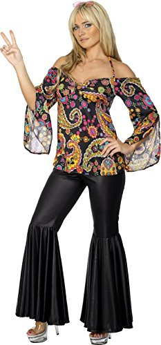 Ladies Sexy Hippie Floral Top and Pants Party Costume - All Size