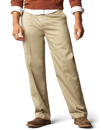 Low Price Dockers Men's Signature Khaki D3 Classic Fit Flat Front Pant