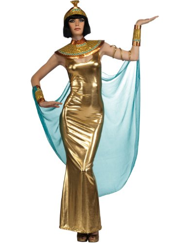 Deluxe Goddess Cleopatra Empress Of Egypt Costume, Gold, Standard
