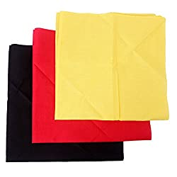 HDE 100% Cotton Solid Color National Pride Bandana 3 Pack