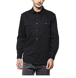 Yepme Men's Black Cotton Shirts - YPMSHRT1111_40