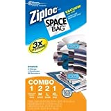 Ziploc Space Bags Reusable Vacuum Seal Combo Pack- 6 Piece Set