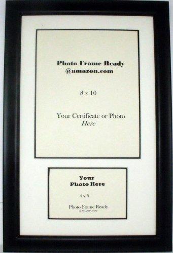 Graduation Diploma Creme & Black Certificate 8 X 10 Photo 4 X 6 Frame Matted
