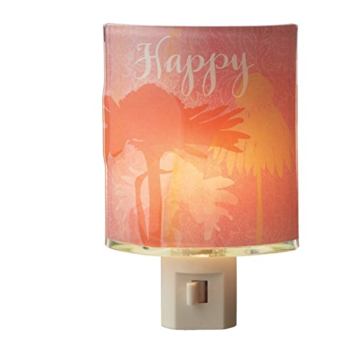 Happy Flower Thick Colored Glass Night Light - 1