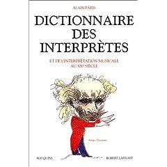 Dictionnaire des interprètes et de l'interprétation musicale au XXe siècle