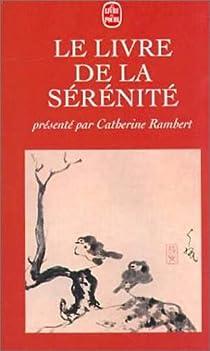 Le livre de la s�r�nit� par Rambert