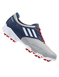 Adidas adiZero Tour Men's Golf Shoes (11.5 Medium US, Light Grey/Running White/Blue)