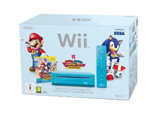 Nintendo Wii - Konsole inkl. Mario & Sonic bei den Olympischen Spielen, blau