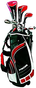 Precise ML55 Men's Package Golf Club Set - Black/Red