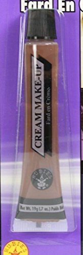 Brown Face Paint Makeup Halloween Made In USA Cream Tube Creme Grease Make Up (Grease 2 Vhs compare prices)