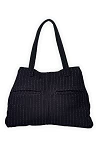 Green 3 Apparel Reclaimed Pinstripe Handbag