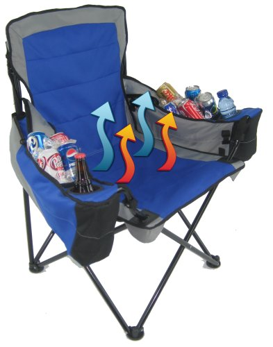 PolarHeat Heated and Cooled Oversized Folding Chair and Two Coolers $49 14