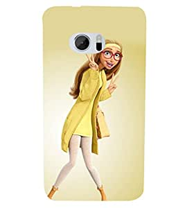 PRINTSHOPPII GIRL CUTE Back Case Cover for HTC One M10