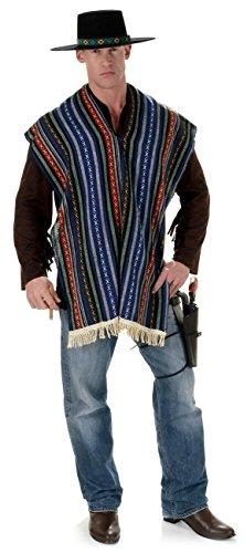 [Men's Mexican Serape Costume] (The 3 Amigos Costume)
