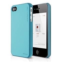 elago S4 Slim Fit 2 Case for iPhone 4/4S (Soft Feeling Antique Blue)- ECO PACK
