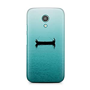 Motivatebox-Moto E1 (First Generation) cover-Lets go sailing Polycarbonate 3D Hard case protective back cover. Premium Quality designer Printed 3D Matte finish hard case back cover.