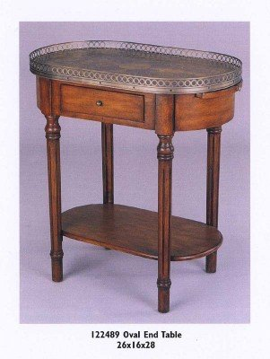 Cheap Fairfax Home Furnishings Oval Shaped One Drawer End Table (B003KZ0HP0)