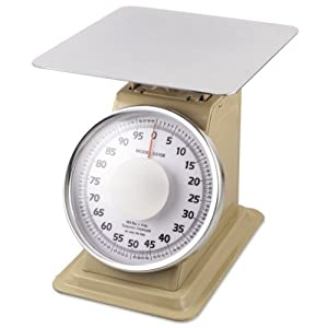 Browne Foodservice 53708 Fixed Dial Heavy-Duty Portion/Receiving Scale, 100-Pound