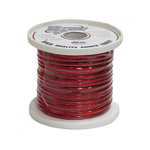 Pyramid 8 Gauge Clear Red Power Wire 25 Ft. Ofc