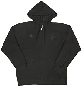 NBA New Orleans Hornets Team Issued adidas Fleece-Lined Zip-up Hoodie Size Large by adidas
