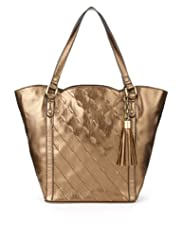 Per Una Leaf Appliqué Shopper Bag [T83-2036N-S]