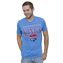 NBA Sacramento Kings Mens Vintage Heather Short Sleeve Crew T-Shirt, Blueberry by Junk Food