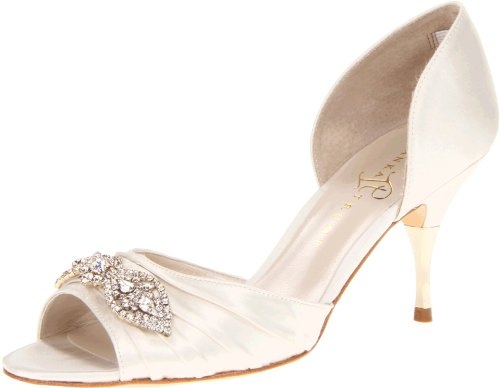 Ivanka Trump Women's Nanci2 Pump,Ivory Satin,7 M US