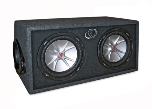 Kicker CompVR 07DCVR122 2-Ohm 2 Subwoofers In-Vent Box