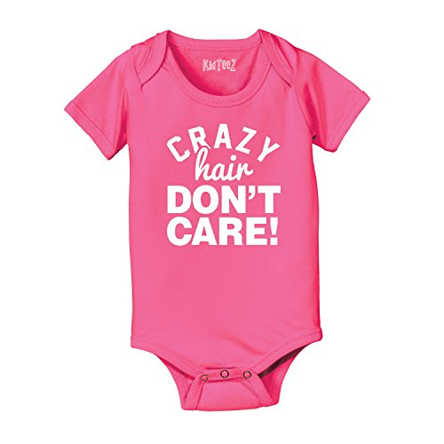 Crazy Hair Don'T Care Cotton Blend Kids - Baby One Piece - Raspberry - 18 Months