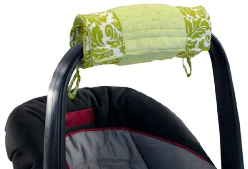 Itzy-Ritzy-Wrap-and-Roll-Infant-Carrier-Arm-Pad-and-Tummy-Time-Mat-Avocado-Damask
