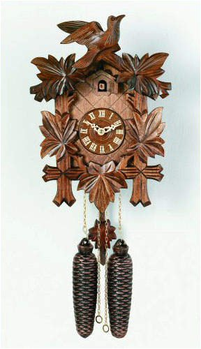 Eight Day 13 Inch Five Leaves One Bird Cuckoo Clock