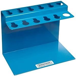"Bel-Art Scienceware 189620001 Aluminum Poxygrid Microliter Pipettor Rack, 9"" Length x 5"" Width x 6-3/4"" Height"