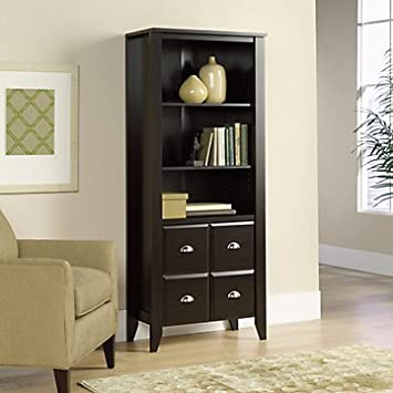 Shoal Creek Bookcase with Doors(Jamocha Wood Finish)