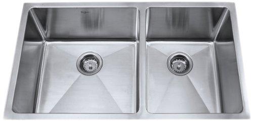 Kraus KHU103-33 33-Inch Undermount 70/30 Double Bowl 16 gauge Kitchen Sink, Stainless Steel