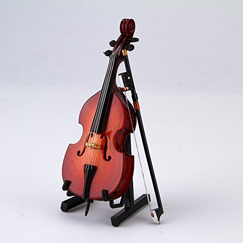 Makanu Double Bass Mini Musical Instruments Double Bass Home Decor Gift 12cm