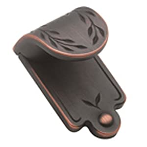 Amerock BP1583-ORB Inspirations Leaf 1-7/8-Inch Wide Finger Pull, Oil Rubbed Bronze