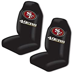 San Francisco 49ers Auto Seat Cover Universal Fit Set of Two by Northwest