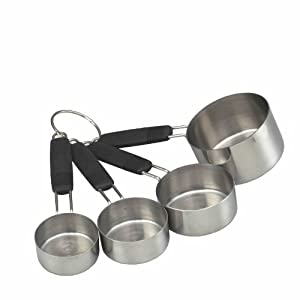 Kitchen Craft Master Class Stainless Steel 4-Piece Measuring Cup Set