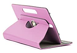 DOMO nCase B9 Smart Cover Carry Case For 7 inch Tablet PC With 360 Degree Rotation Tablet Stand And Camera Holes - Light Pink