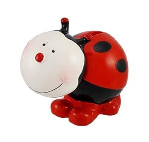 Cute Ladybug Bobble Head Coin Bank