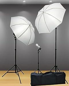 Fancierstudio Light Kit 3 Point Lighting Kit Fluorescent Lighting Kit Umbrella Kit DK3B