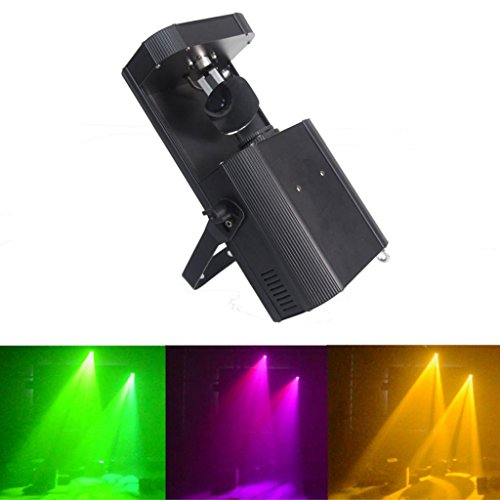 Yiscortm Stage Lighting Led Spot Moving Head Light 60W Dmx512 8Gobos 8Colors + White For Xmas Christmas Birthday Home Garden Party Club Disco Effect