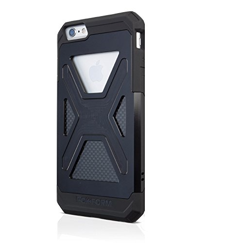 Rokform Ultra Rugged and Protective Aluminum iPhone 6 Plus Case with Reinforced TPU Corners - Retail Packaging - Black